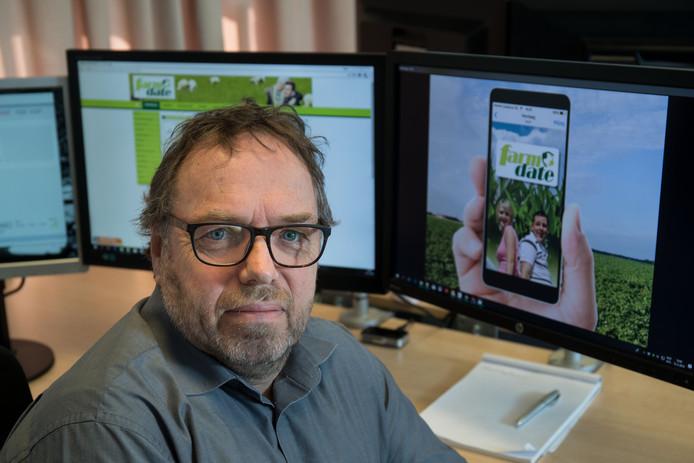 Pieter Bosch, oprichter van Farm Date, een datingwebsite voor boeren. Bestaat al sinds 2001 en komen nu met een app.