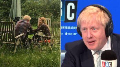Boris Johnson en vriendin kijken elkaar liefdevol in de ogen op 'eerste foto' sinds hevige ruzie, maar is beeld pr-stunt?