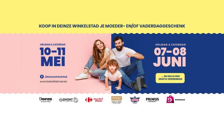 Vzw Deinze Winkelstad lanceert verwenbon voor Moeder- en Vaderdag.