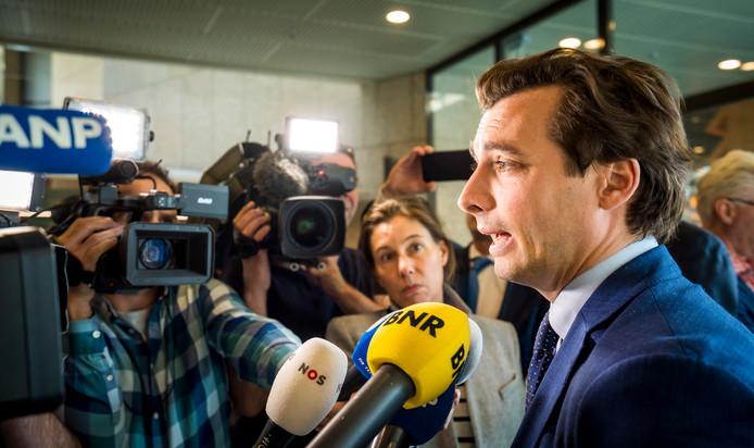 2019-03-26 14:55:26 DEN HAAG - Thierry Baudet tijdens het wekelijkse vragenuur in de Tweede Kamer. ANP LEX VAN LIESHOUT
