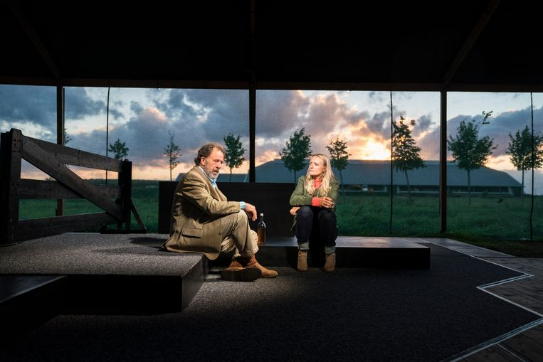 Maarten Wansink en Trudi Klever in 'Grond'. Beeld Hollandse Hoogte