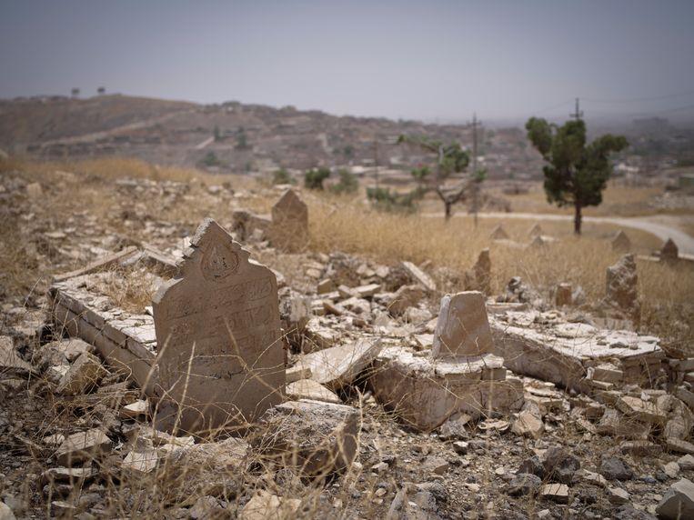 Yezidi-tempel in het Sinjar-gebergte, verwoest door IS. Beeld Hollandse Hoogte / Panos Pictures