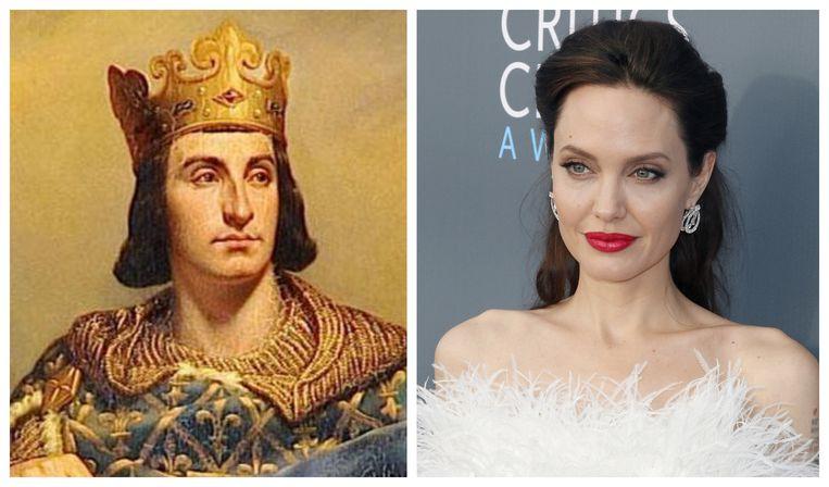 Filip II van Frankrijk en Angelina Jolie