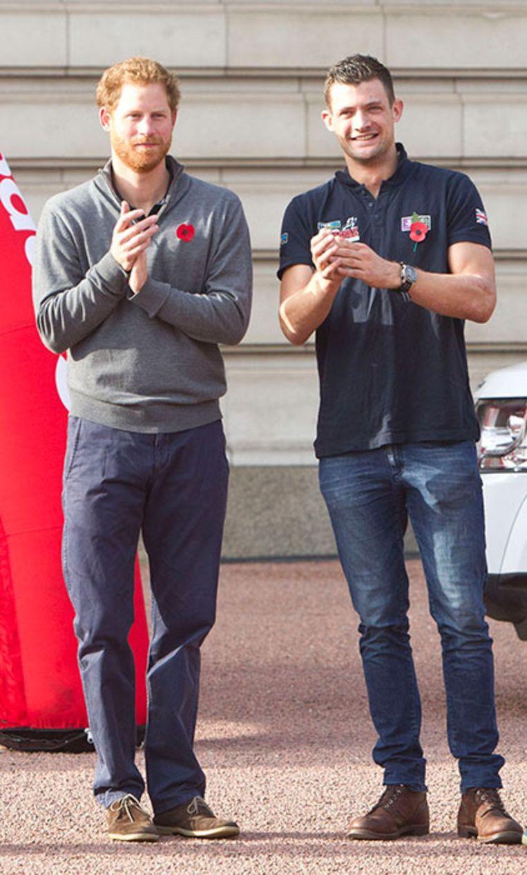 Prins Harry en boezemvriend Jules Roberts in 2015.