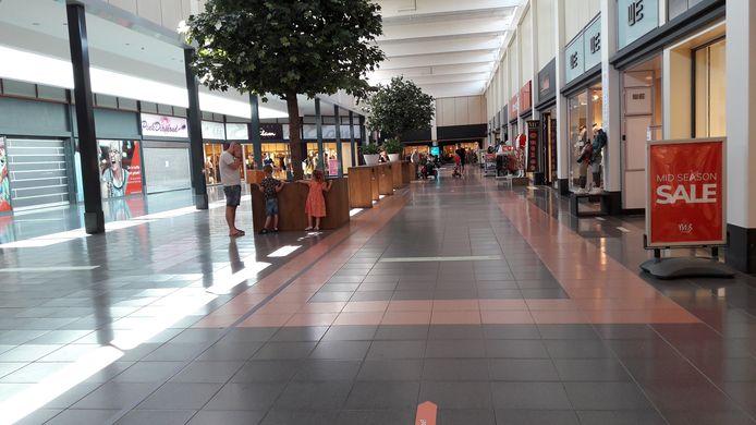 In het overdekte winkelcentrum in Etten-Leur was het rustig zaterdagmiddag.