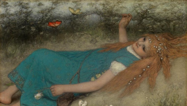 De Vlinders, Matthijs Maris, 1874 Beeld Rijksmuseum