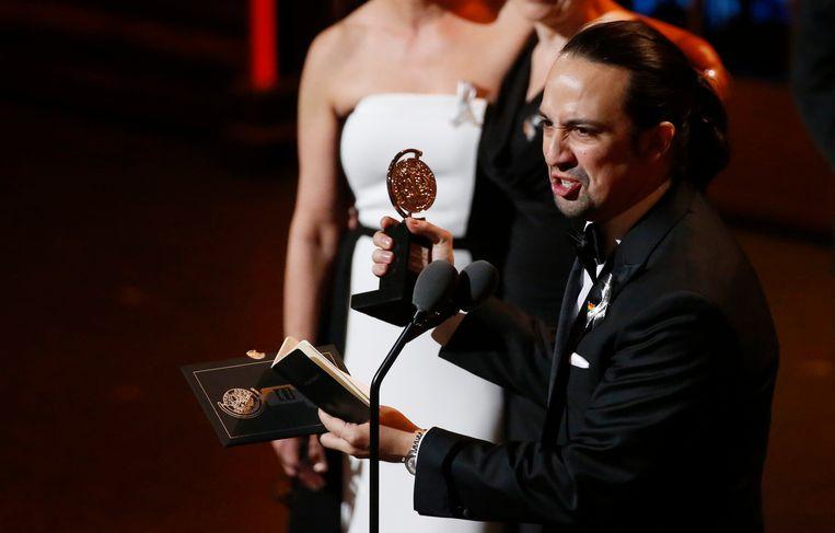 Lin-Manuel Miranda, schrijver van en hoofdrolspeler in Hamilton. Beeld reuters