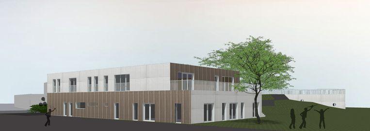 De eerder vrijgegeven 3D-beelden van het nieuwe gebouw, dat straks het kloppende hart wordt van speel-en recreatiesite Zoeber in Hooglede.
