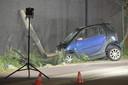 Het ongeval deed zich voor in de Vosstraat aan de luchthaven.