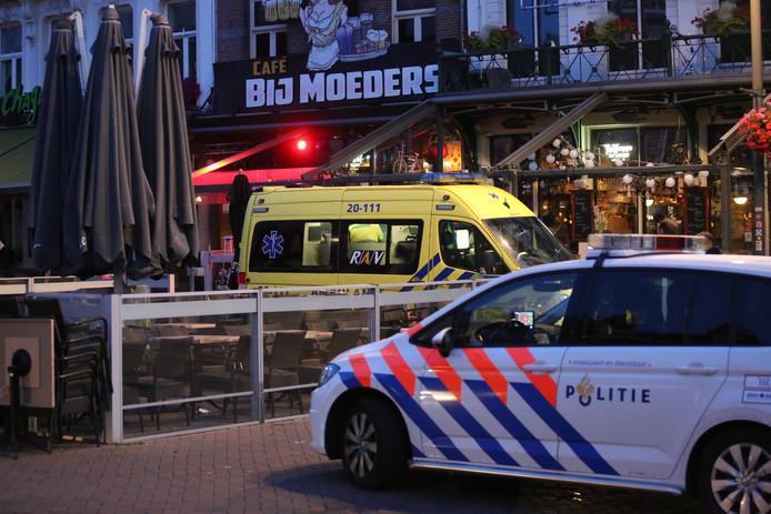 Steekpartij op De Markt Roosendaal.