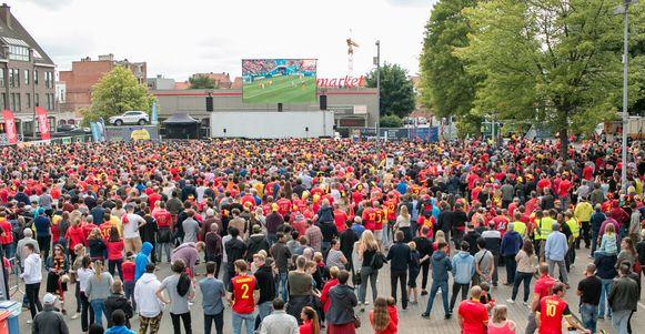 De stad is op zoek naar een organisator om een fandorp met groot scherm in te richten op het Hendrik Heymanplein tijdens het komende EK voetbal.