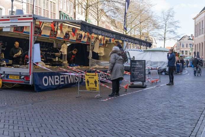 De Zaterdag markt in Zwolle