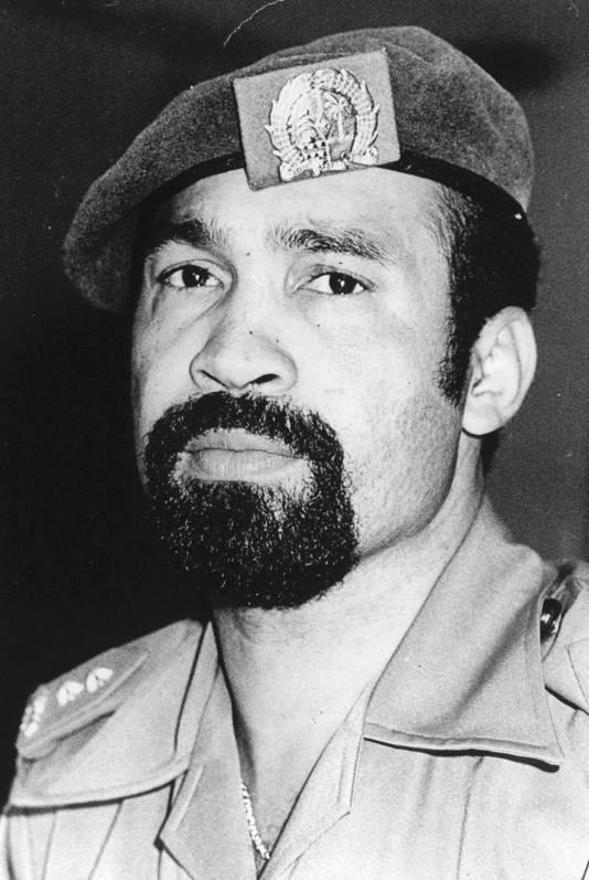 Archieffoto Desi Bouterse uit 1984.