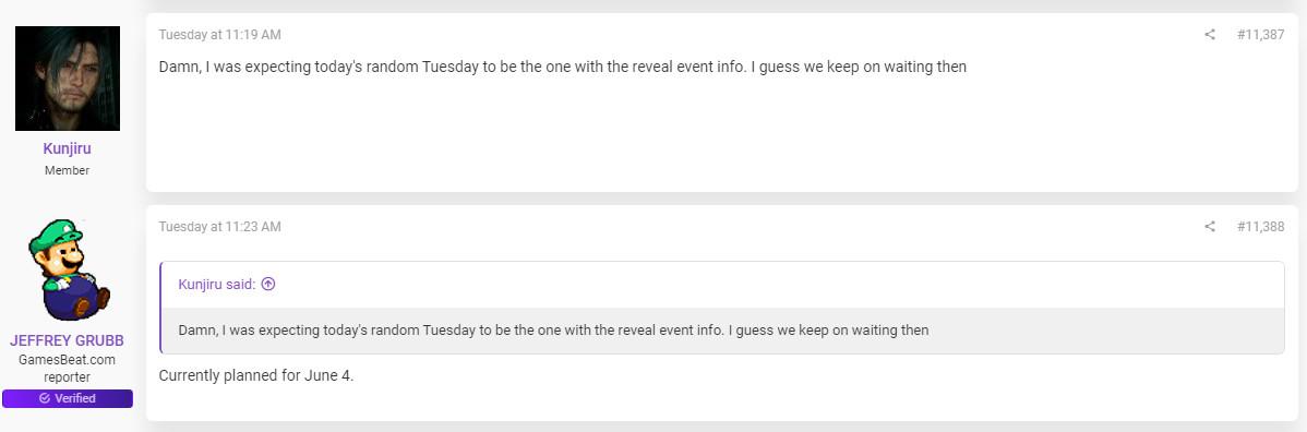 Jeff Grubb lijkt authentieke informatie te delen over het PlayStation 5 reveal event op het forum van ResetEra.