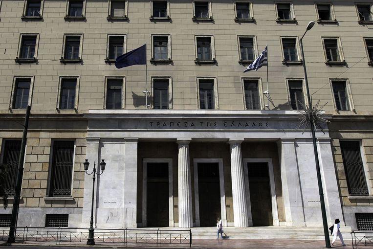 Het hoofdkantoor van de Griekse centrale bank Beeld null