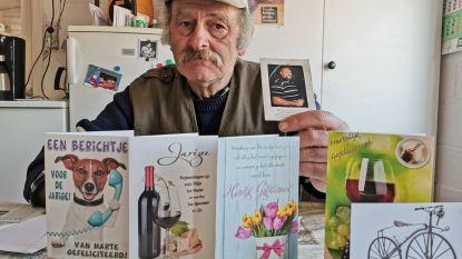 """Pierre (72) viert al 15 jaar verjaardag niet meer na overlijden broer maar krijgt toch 45 kaartjes van onze lezers: """"Doet plezier, maar die dag mag gerust van kalender geschrapt worden"""""""