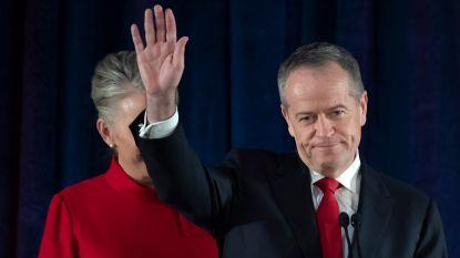 Australische verkiezingen: oppositieleider Bill Shorten geeft verlies toe en stapt op als partijleider