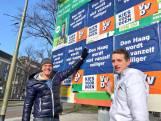 'Schaamteloze Rutte' plakt over posters concurrenten heen