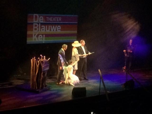 Koningin Máxima opent met een toverstok theater de Blauwe Kei op de Noordkade in Veghel