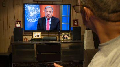 """VN-topman Guterres: """"Respons nodig zoals in oorlogstijd"""""""