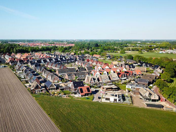 Aan de rand van Mierlo wordt volop gebouwd aan de wijk Luchen.