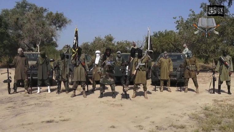 Boko Haram-strijders op een archieffoto uit 2014.