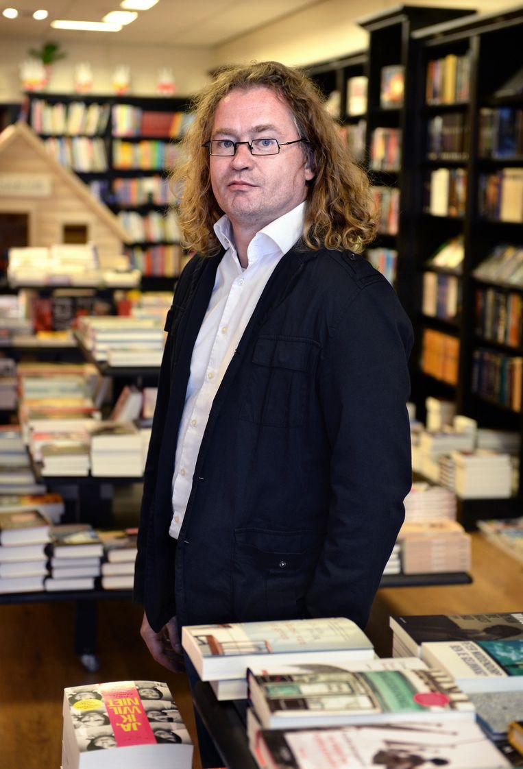 Voor koopzondag: Theo Hofstede, boekhandel Het Paard van Troje. Beeld Marcel van den Bergh