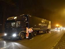 Vrachtwagen vat vlam in Utrecht