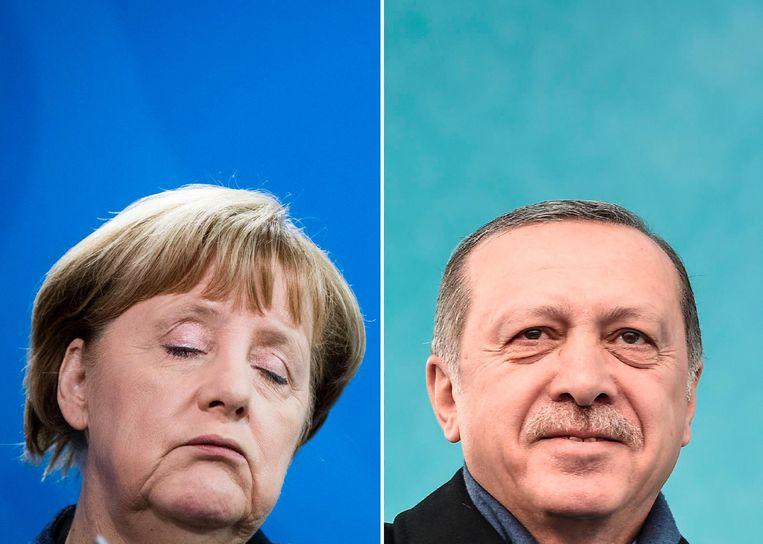Merkel en Erdogan. Beeld anp