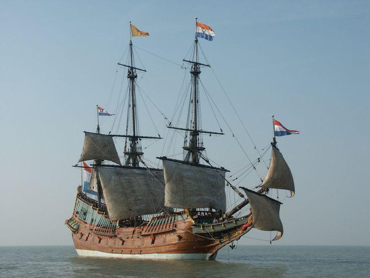 Reconstructie van de Batavia. Beeld