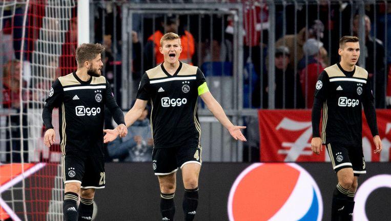 Deelname van Matthijs de Ligt heeft een groot statistisch effect op de dominantie van Ajax in een wedstrijd Beeld afp