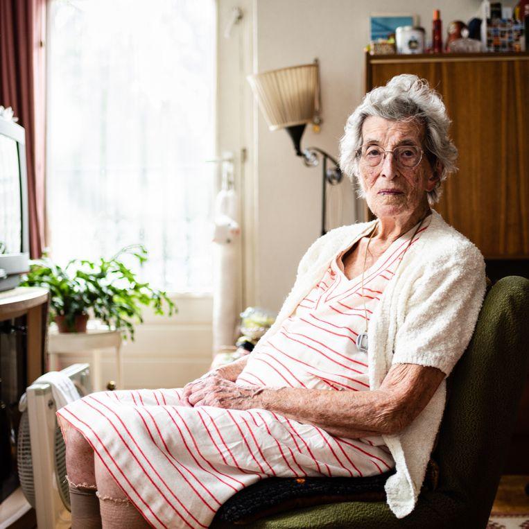 Riek Holman-Kluver (103). Beeld Katja Poelwijk