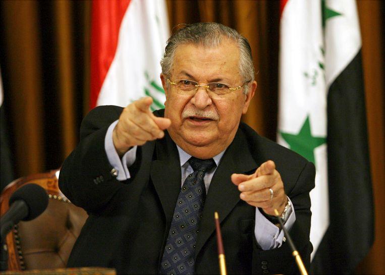 Jalal Talabani in 2007 Beeld AP