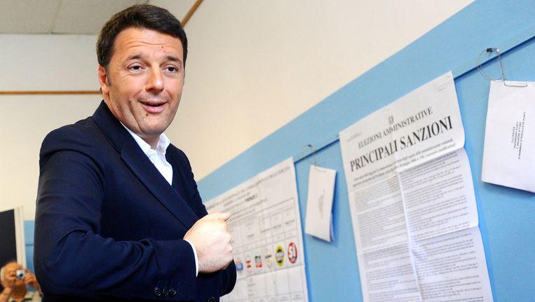 Premier Matteo Renzi verloor heel wat stemmen aan rechts.