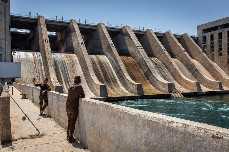 De Tabqa Dam in Noord Syrië. Beeld Hollandse Hoogte / The New York Times Syndication