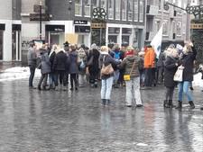 Stoet van 170 leraren demonstreert in centrum Nijmegen