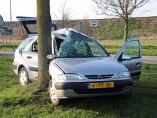 Auto knalt tegen boom langs A58: Vlissinger met schrik vrij