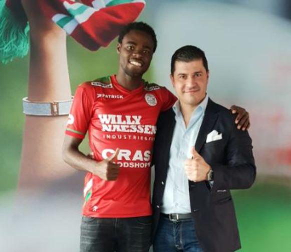 Oberlin met zijn manager Avellino.