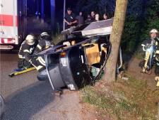 Beschonken bestuurder (65) klapt op boom bij Lattrop