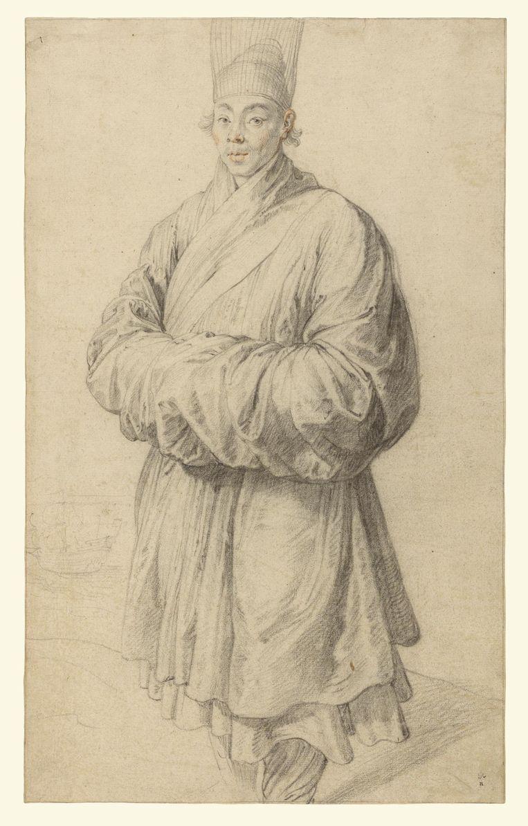 Portret van de Chinese koopman Yppong (nieuwe titel), circa 1617, door Peter Paul Rubens Beeld