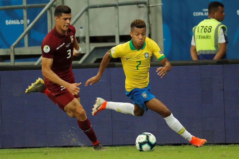 David Neres won vorige week met Brazilië de Copa América in eigen land. Beeld EPA