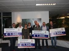 Rabobank Rijssen/Enter overhandigt cheques