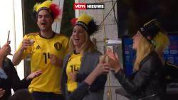 Zo blij was Kat Kerkhofs gisteren met de overwinning van manlief Dries