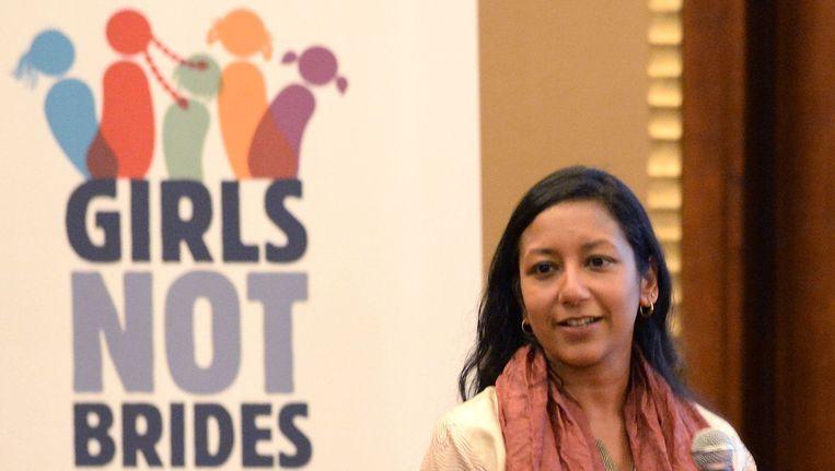 De wereldwijde organisatie 'Girls Not Brides' verzet zich tegen kindhuwelijken. (archieffoto) Beeld afp