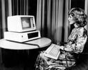 Eén van de eerste IBM pc's waarvoor Allen en Gates het besturingssysteem maakten