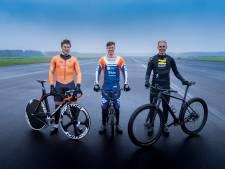 Wie is het snelst: de mountainbiker, BMX'er of de baanwielrenner? Deze topsporters leveren het bewijs