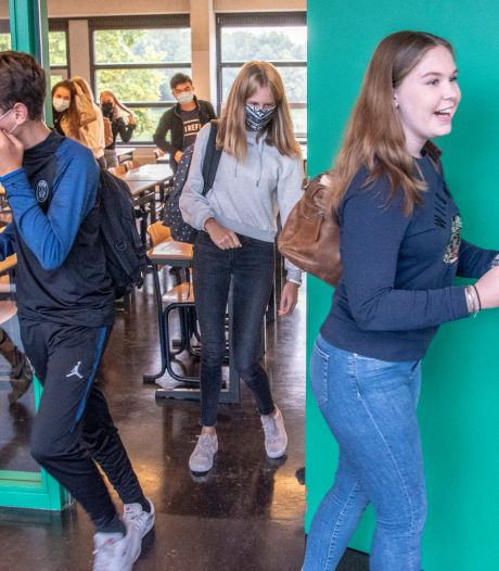 Op deze school draagt iedereen verplicht een mondkapje: 'Sorry, ik was het even vergeten'