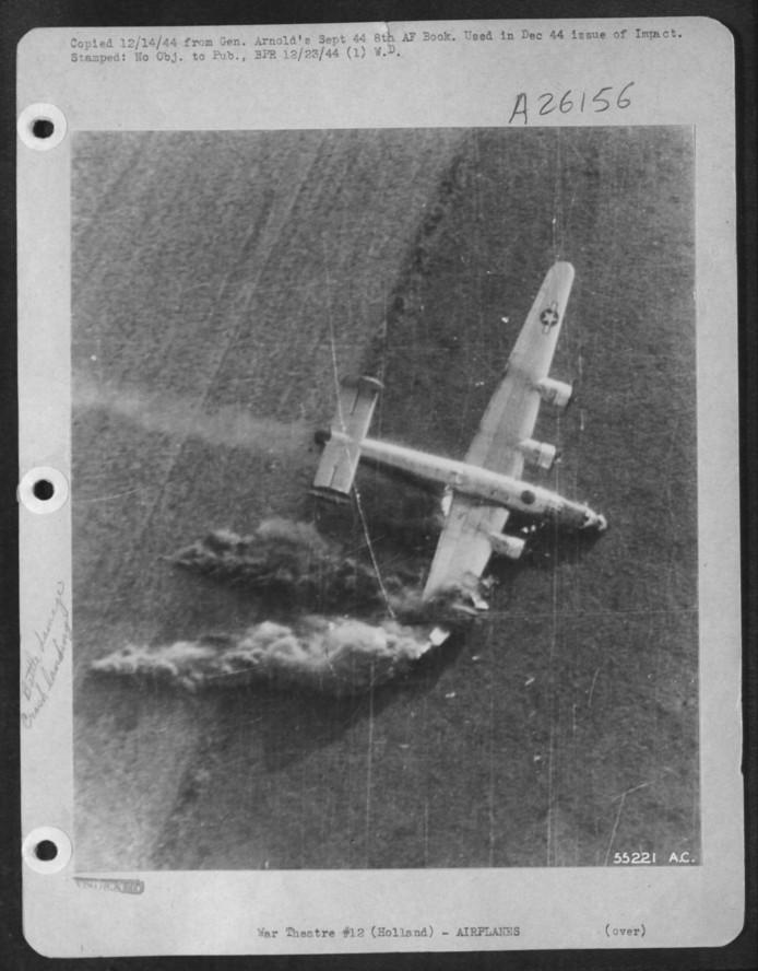 Op 18 september 1944 crashte een B-24J bommenwerper in een weiland bij Biezenmortel. Negen van de tien bemanningsleden kwamen om.