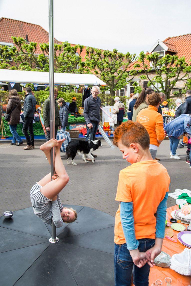 Vrijmarkt Koningsdag Harderwijk. Beeld Pauline Niks