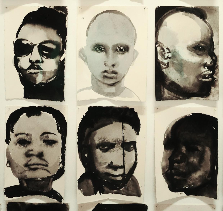 Detail uit: Marlene Dumas, Black Drawnings (1991-1992). Beeld Collectie De Pont Museum Tilburg